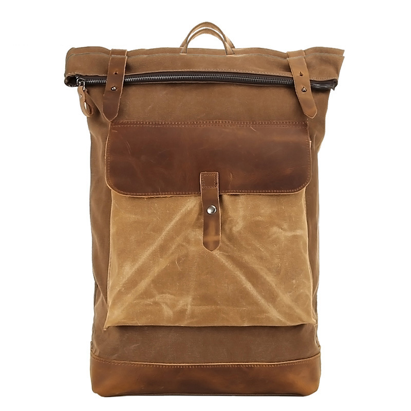 Waterproof Waxed Canvas Travel Backpack, Canvas Rucksack, Shoulder Bag for  Men FX1004 on Storenvy df60864cd4