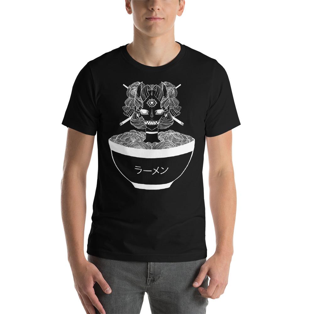 4f99238ee ... Monster Girl Ramen Noodle Goth T Shirt, Japanese Anime Manga Graphic Tee,  Weird Art
