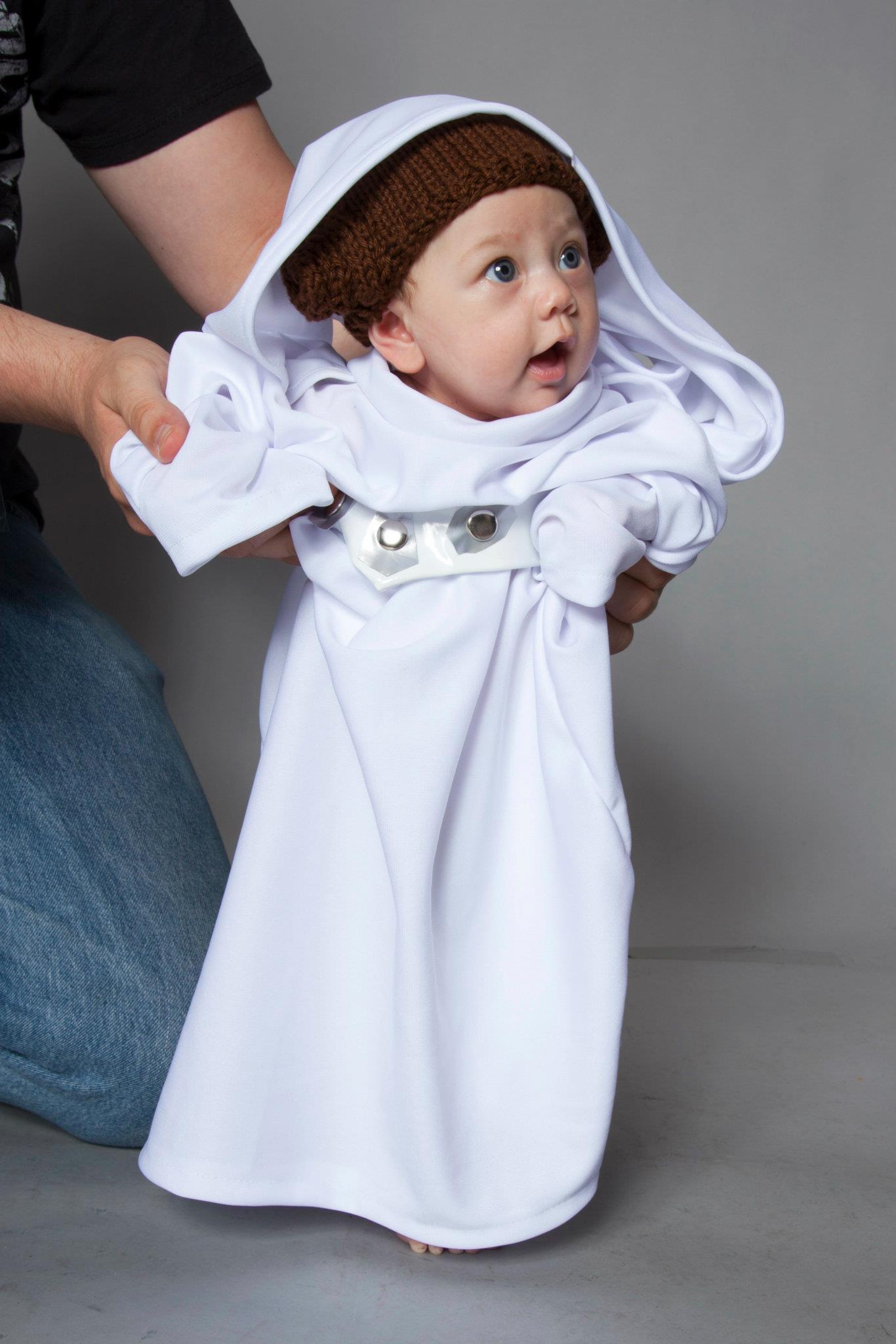 Knit Princess Leia Hat Newborn Infant Toddler Geek A Bye