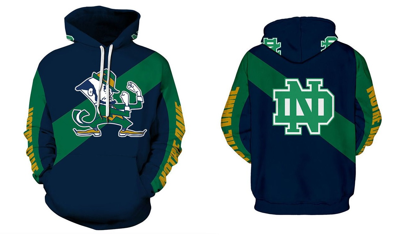 170b896e22d New Notre Dame Fighting Irish Hoodie NCAA Team Football on Storenvy