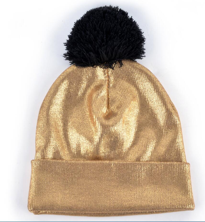 4f7c2b17e55 2018 Autumn And Winter Beanies Women Fashion Sequins Knitted Wool Hat Femal  Flashing Skullies Girls Beanie ...