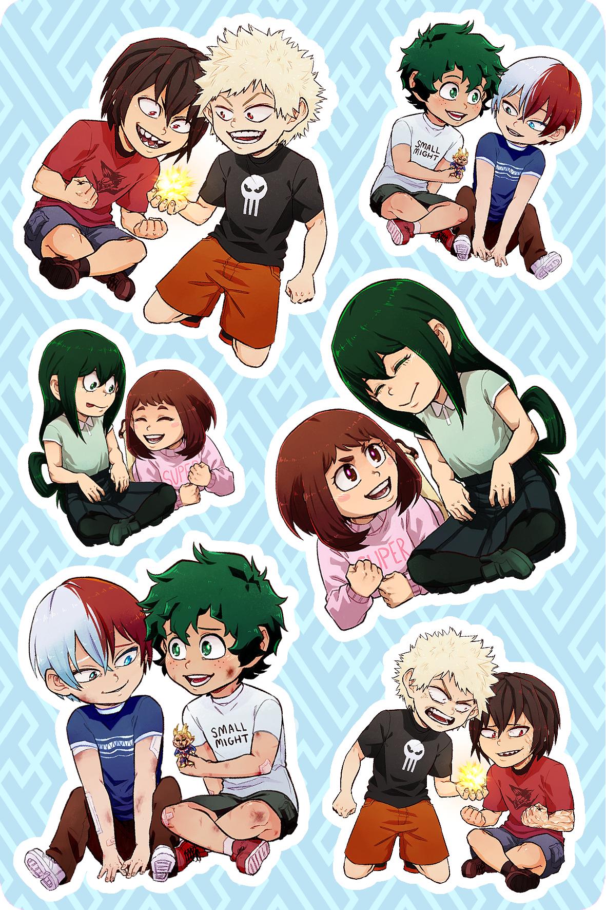 Bnha Kids Sticker Sheets On Storenvy