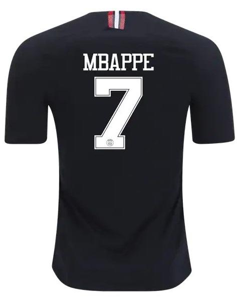 0aeedd144 MBAPPE  7 Jersey 18 19 3rd Soccer PSG
