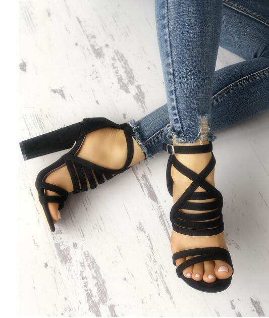 c0a514766842 ... Thumbnail 1 · Charming Strappy Open Toe Stiletto Sandals Hot High Shoes  Cheap Prom Shoes M5740 - Thumbnail 2 ...