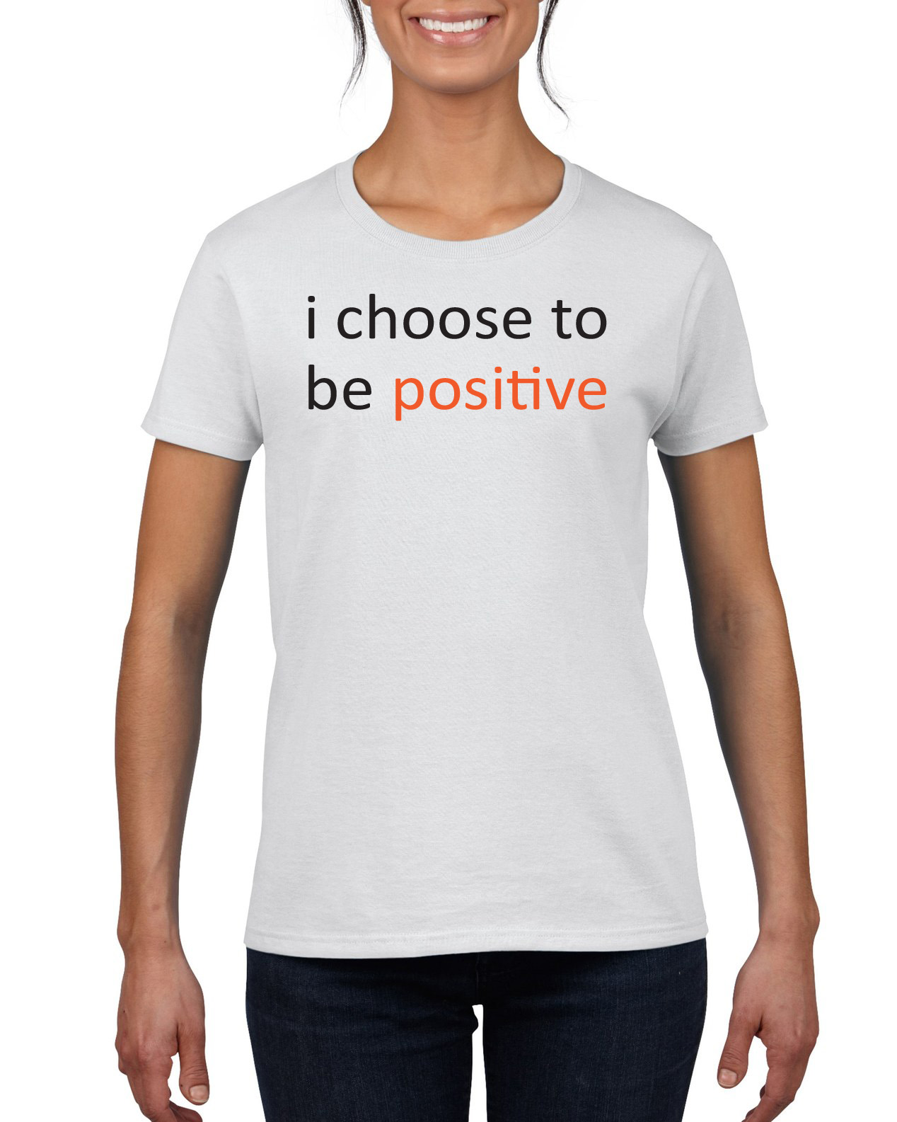 1c15a6d6 I Choose To Be Positive Crew Neck Tee 6 oz 100% cotton on Storenvy