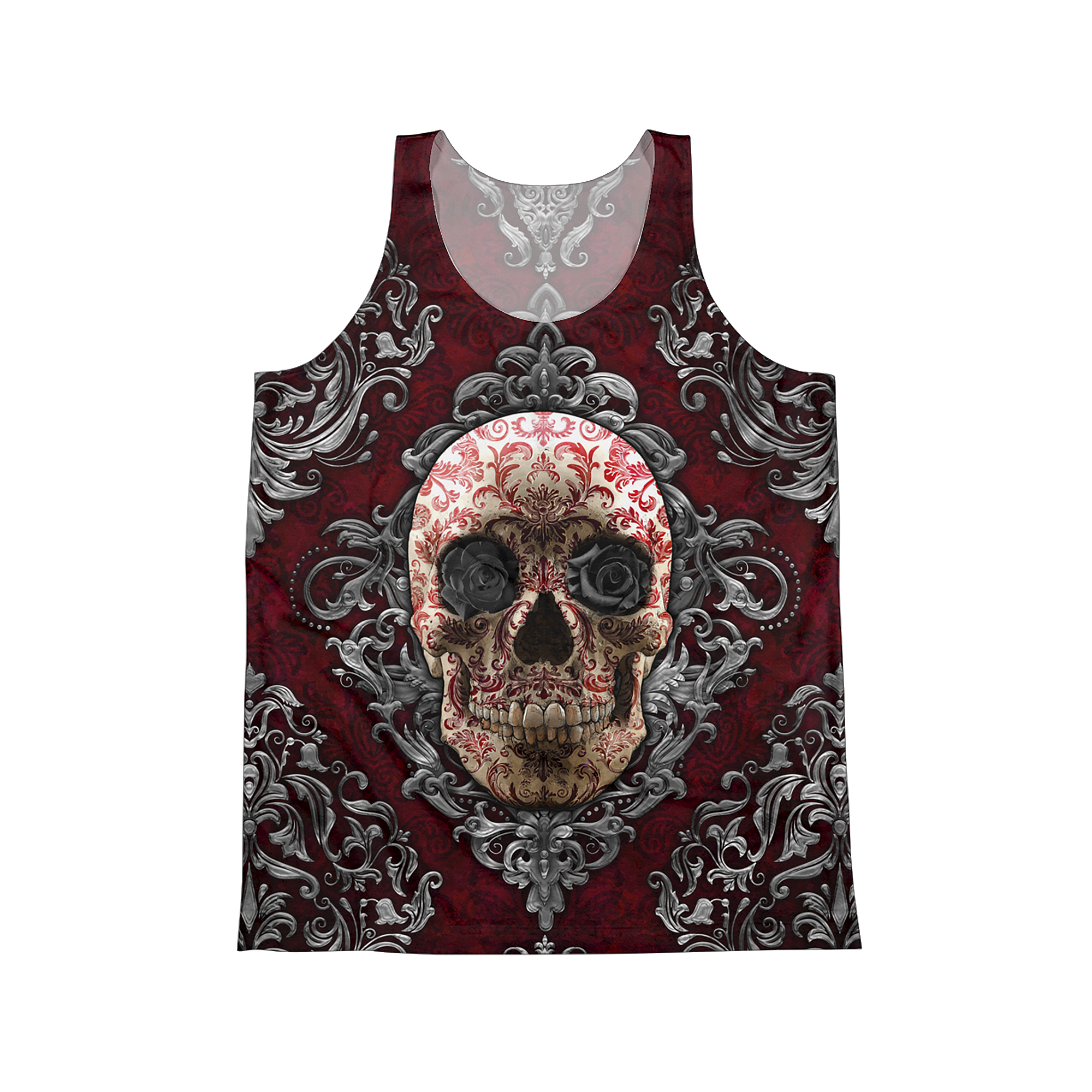 81bfc1144026a1 Gothic Skull Tank Top
