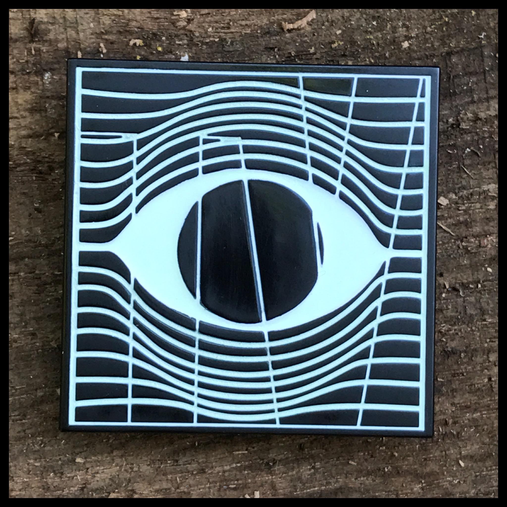 60809a13fb5 Terror Vision logo enamel pin (GLOW IN THE DARK) · tittybats ...