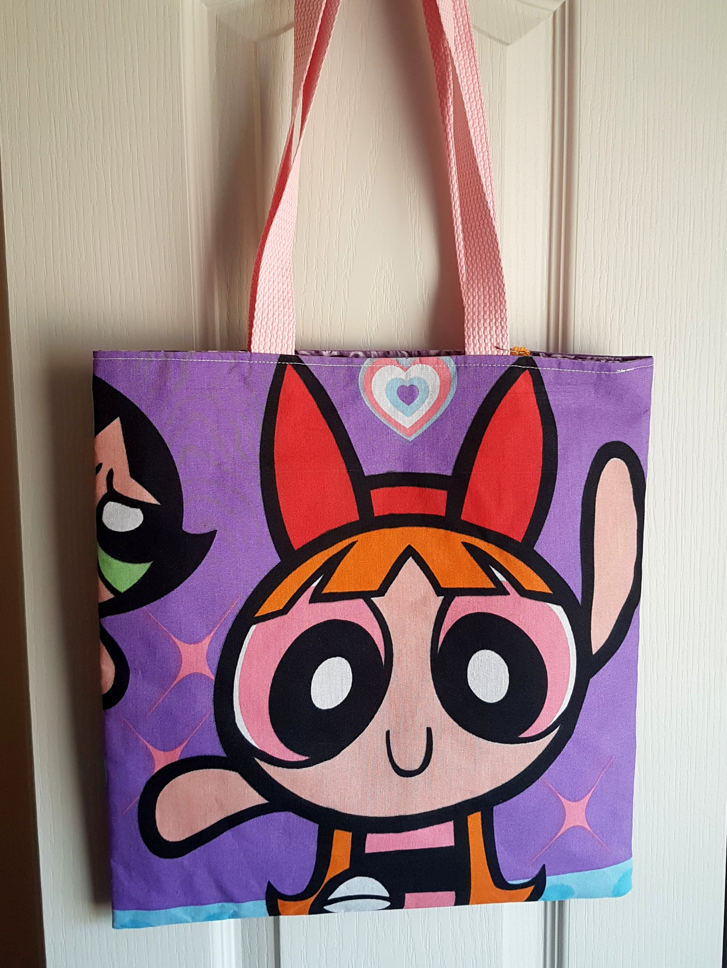 41e0bbf9fc2 Purple Powerpuff Girls Purse Tote Bag - Blossom, Buttercup & Bubbles ...