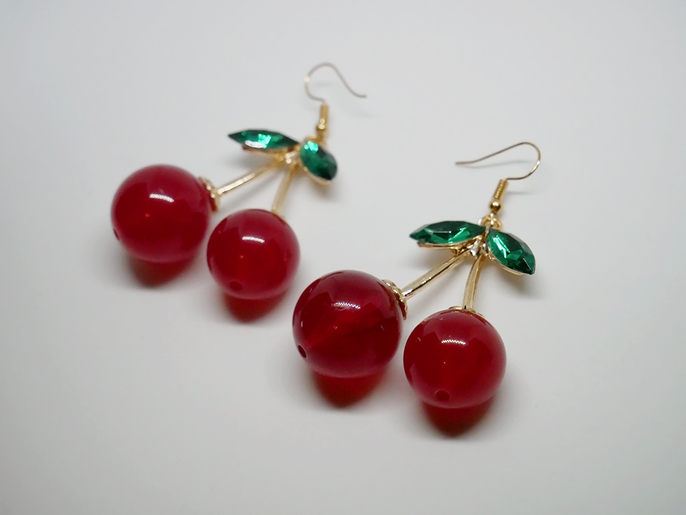 cde4e5ef668498 Big cherry earrings · Eyecandy · Online Store Powered by Storenvy