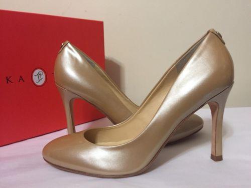 f6428ed460f3 Ivanka Trump Janie Sandy Luster Patent Women s Heels Pumps Size 9.5 ...
