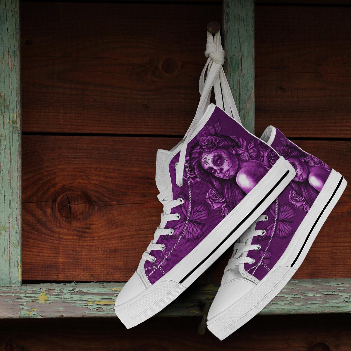 885207dbb9cd Calavera Design  2 (Purple With White Trim Soles) Accessorize ...