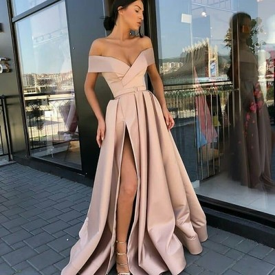 3028cb8bf Champagne v-neck prom dresses long evening dress stain formal gowns k6890