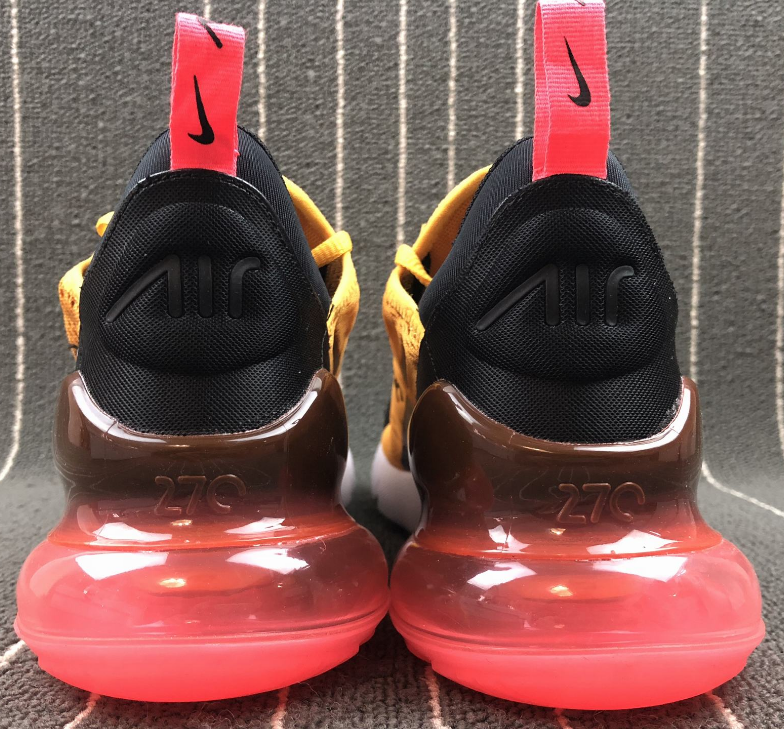 """a72e34e146226 Nike Air Max 270 """"Tiger"""" Black University Gold-Hot Punch-White For ..."""