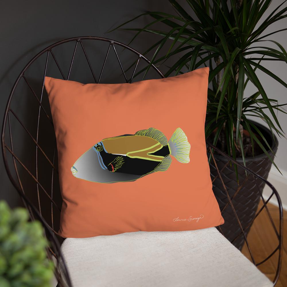 Humuhumu Throw Pillow Laurie Sumiye Studio Online Shop Powered