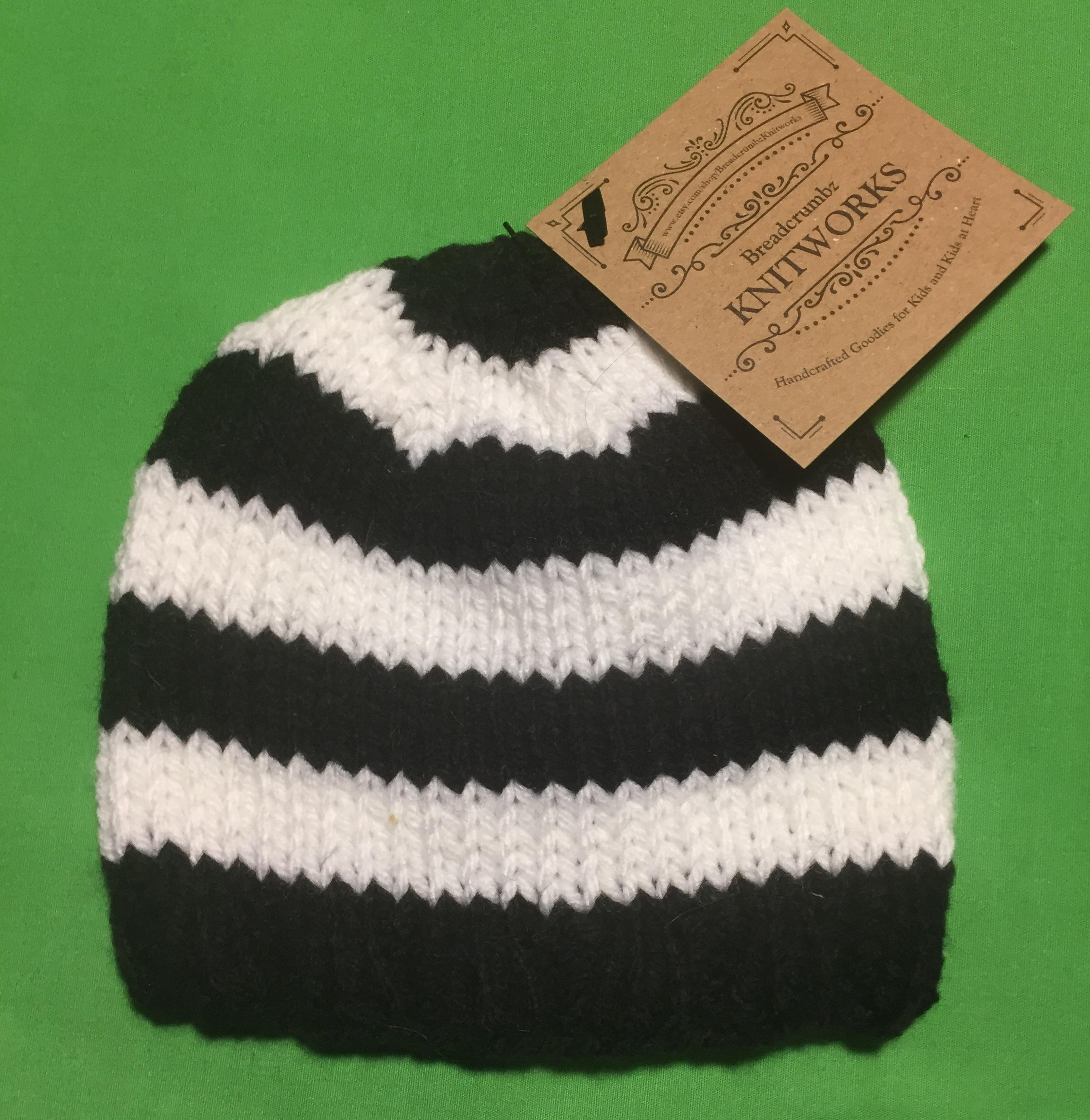 7868752723f Knitted Baby Beanie - Striped on Storenvy