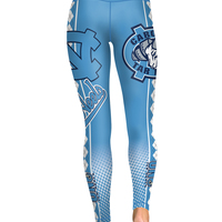 46fc8917663c8 ... North Carolina Tar Heels Yoga Pants Women Workout Football Leggings - Thumbnail  3 ...