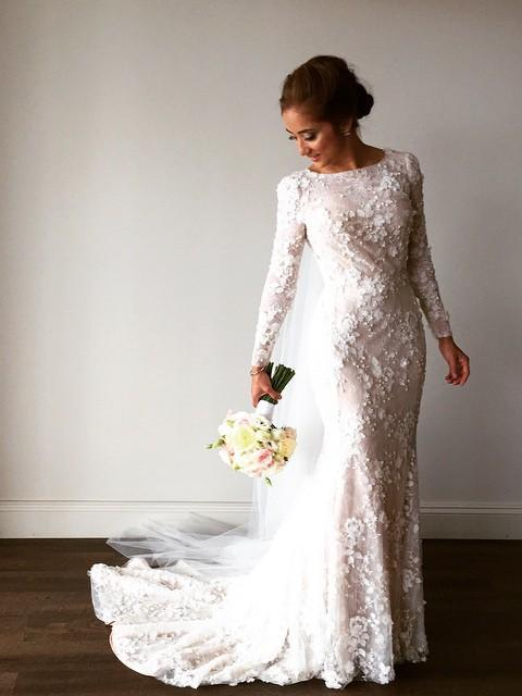 Modest Wedding Dress.Gorgeous Lace Mermaid Wedding Dresses With Long Sleeves Chapel Train Modest Bride Gowns 106 From Lovefashion