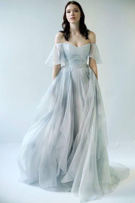 20a537fc91 Beautiful Prom Dresses Off-the-shoulder A-line Print Flowy Chiffon Long Prom