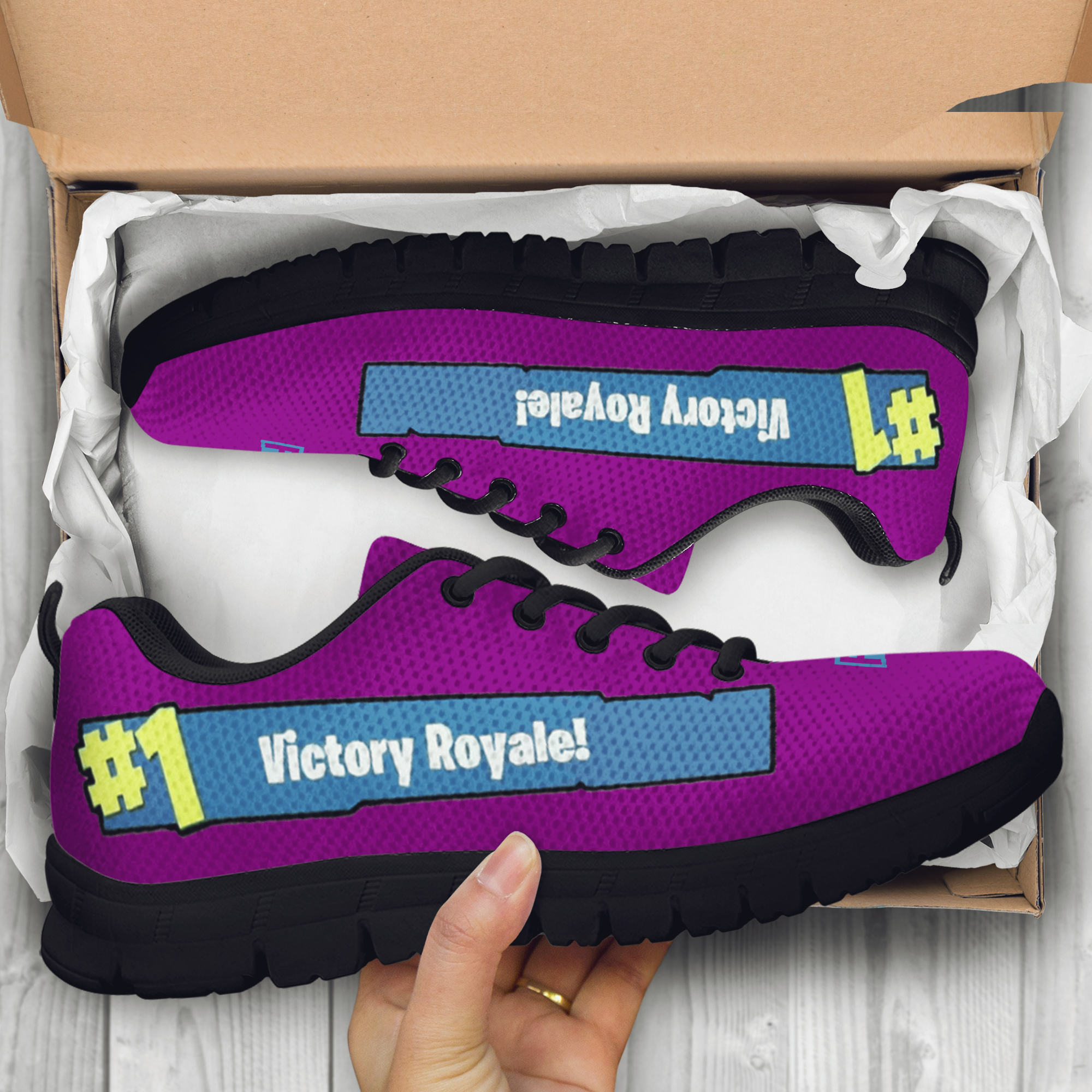 69c5b708b7641 Fortnite Battle Royale Custom Shoes/sneakers/trainers - ladies, Mens, Kids  sizes Fan, Collector, Fortnite Birthday Gift