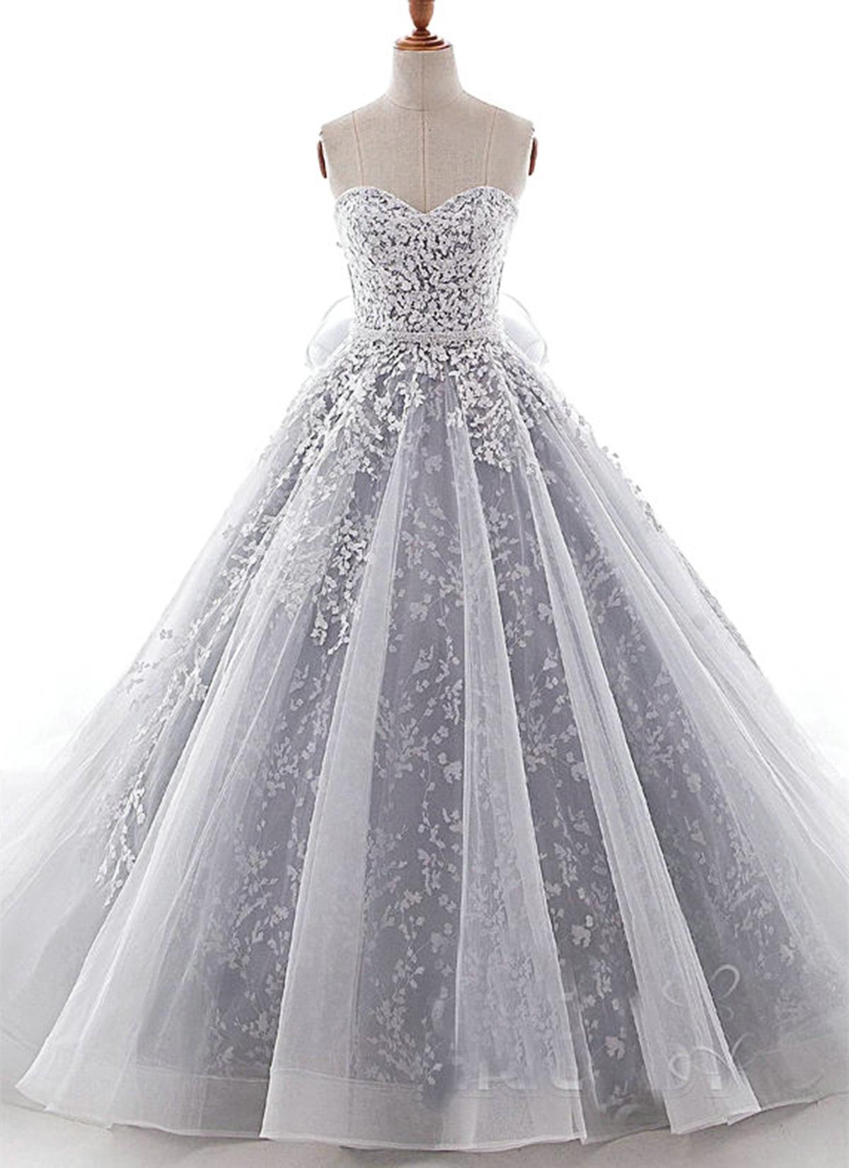 dc8e40e57d5 Cheap Prom Dresses by SweetheartDress · Sweetheart Neck Gray Organza ...