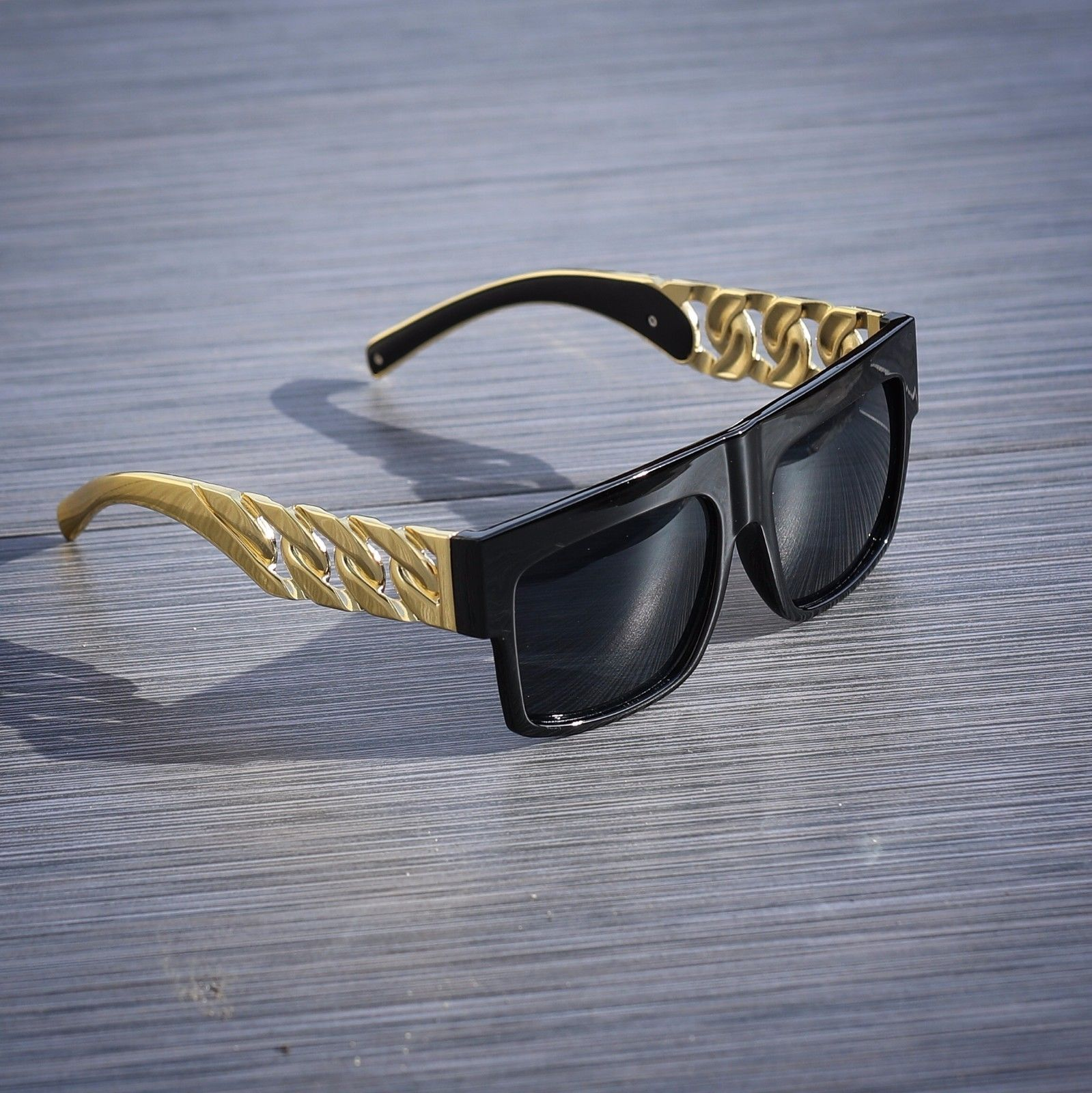 34a9bcf3ee5f Gold Cuban Link Dark Shade Sun Glasses on Storenvy