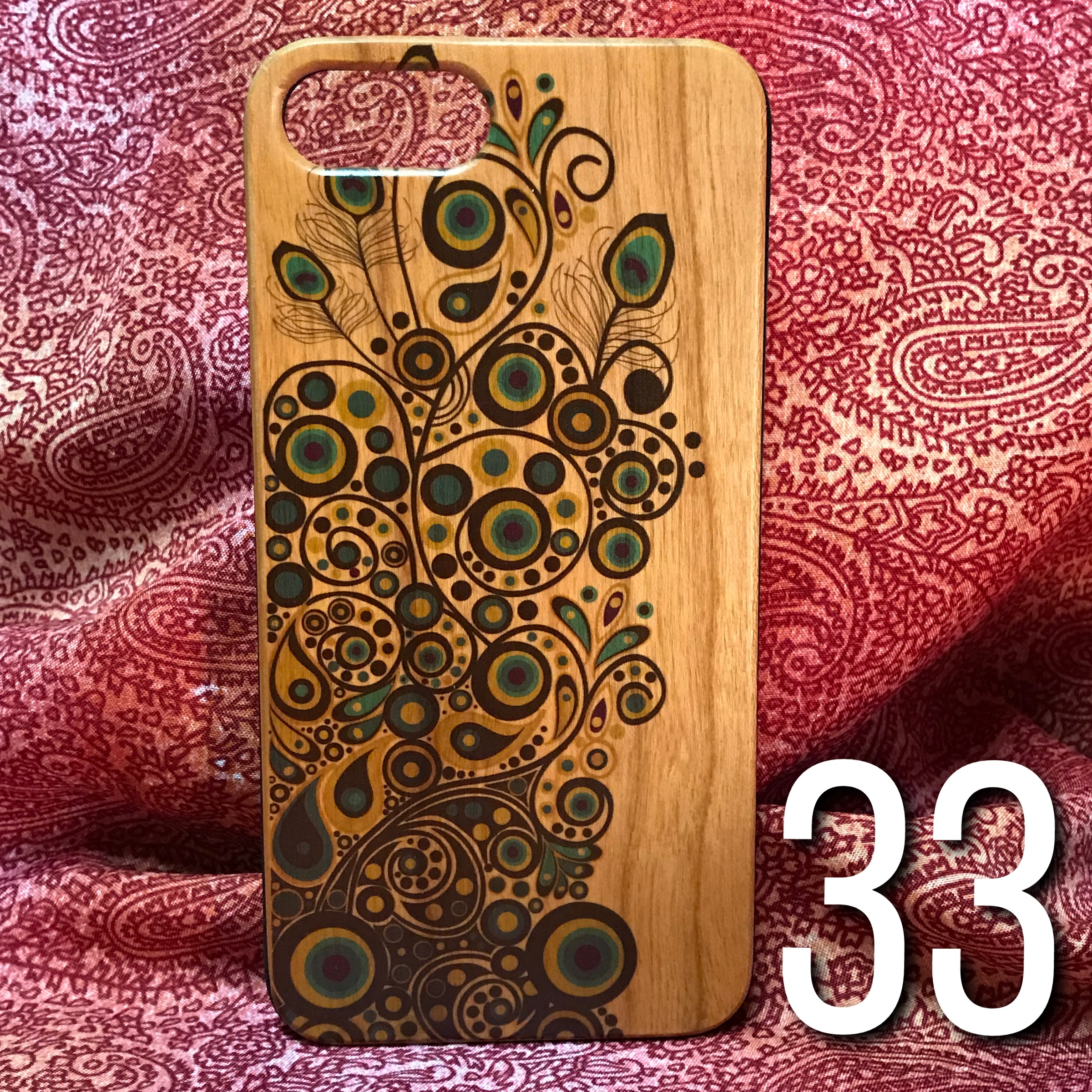 classic fit e168b c4148 iPhone 6+/7+ Phone Case - Funky Peacock Feathers (33-36) from Monsoon Varsha