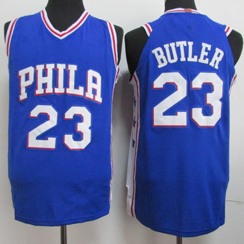 f04749b85c0e Men s Philadelphia 76ers 23 Jimmy Butler Blue Basketball Jersey ...