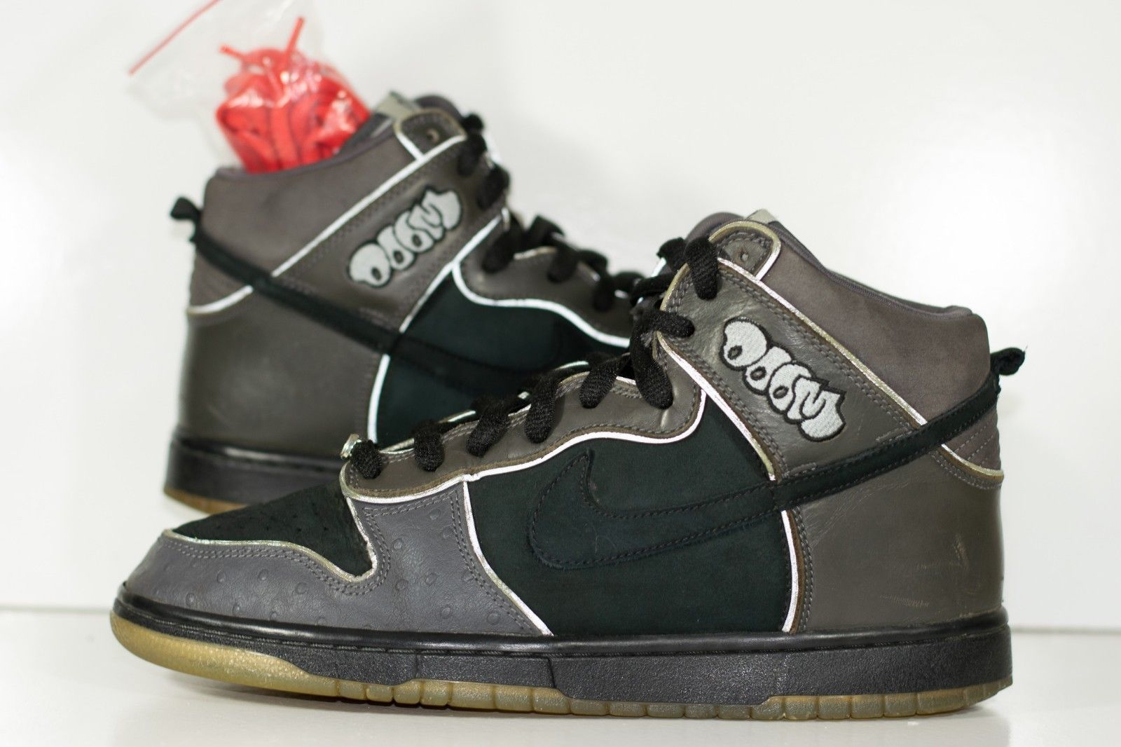 online store b68d7 d3d99 Size 10 | 2007 Nike Dunk High Pro SB MF Doom #313171-004  Black/Black/Midnight Fog from BucksVintage