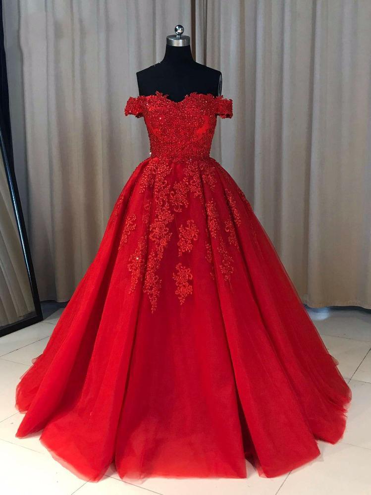 685b4f501e4 Red Evening Dresses