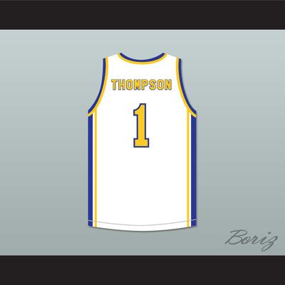 83c6b5ec9 Klay thompson 1 santa margarita catholic high school eagles white  basketball jersey 2
