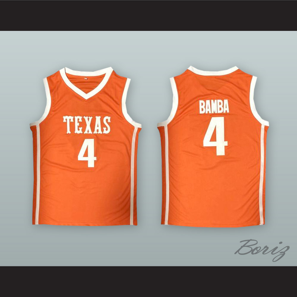 release date 6f8a4 53f02 Mo Bamba 4 Texas Orange Basketball Jersey from acbestseller