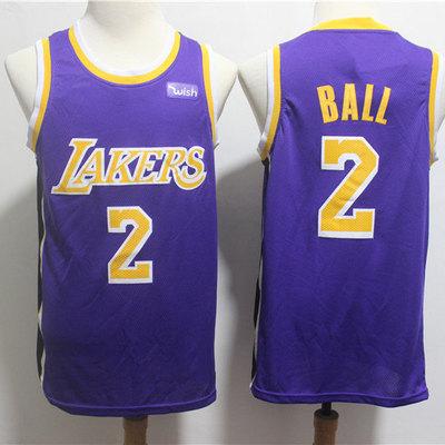 a89d993339f Men los angeles lakers lonzo ball fanatics branded purple fast break jersey  - statement edition