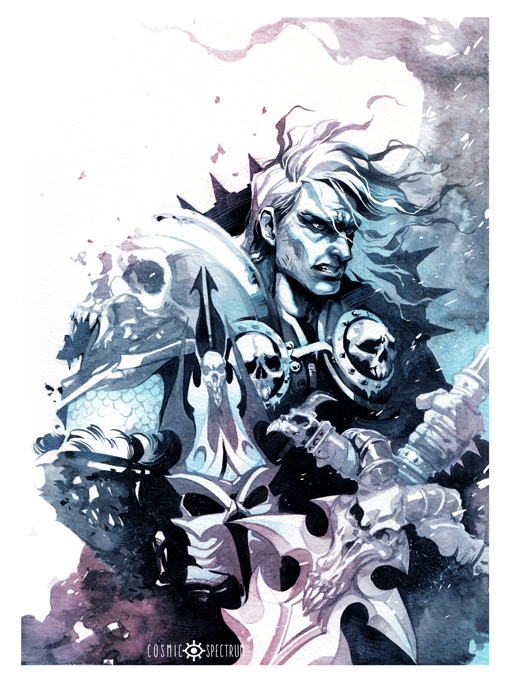 Art Print The Lich King Sold By Cosmic Spectrum