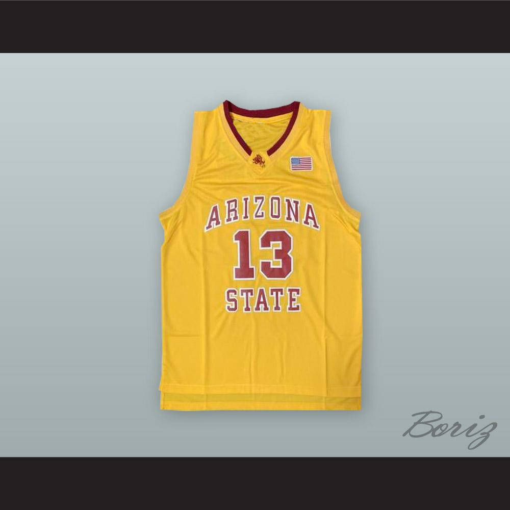 9cf3aa856d49 James Harden 13 Arizona State Yellow Basketball Jersey ...