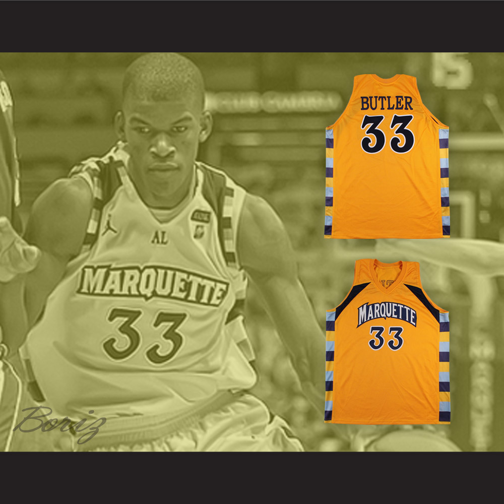 Jimmy Butler 33 Marquette Yellow Basketball Jersey from acbestseller