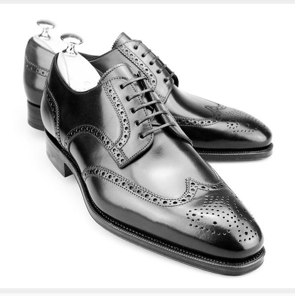 ac24bee287 Handmade Men brogue wingtip formal Shoes, Men wing tip black leather ...