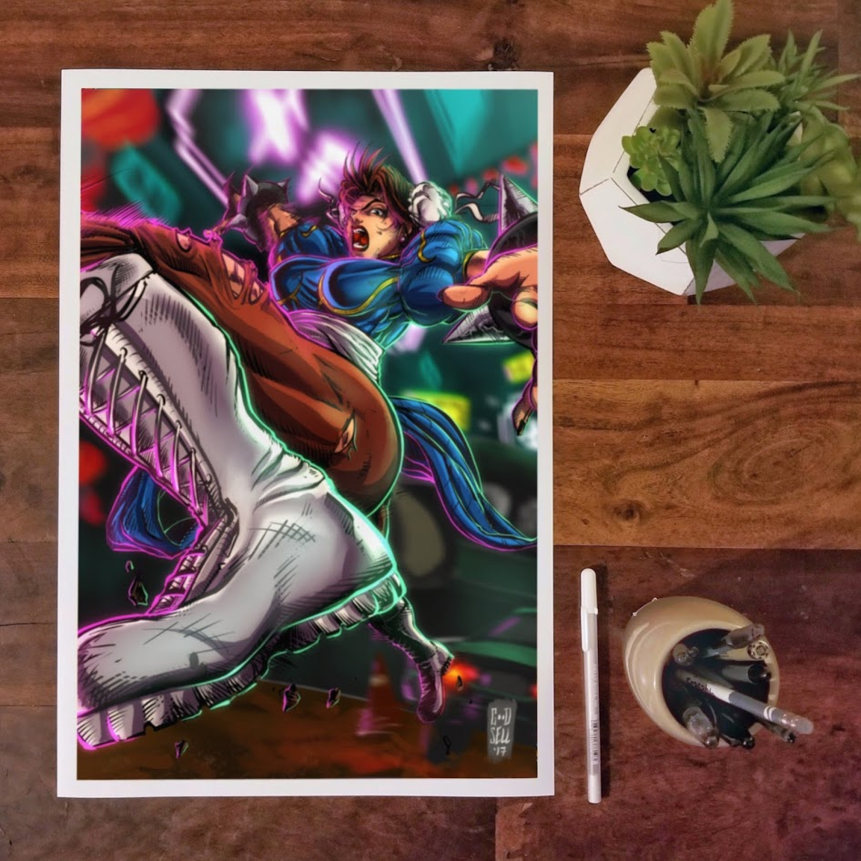 Chun Li Wall Art Poster Print Street Fighter Anime Gift Video Game