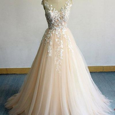 41ed99d296b Classic champagne long prom dresses v neck appliques evening dresses
