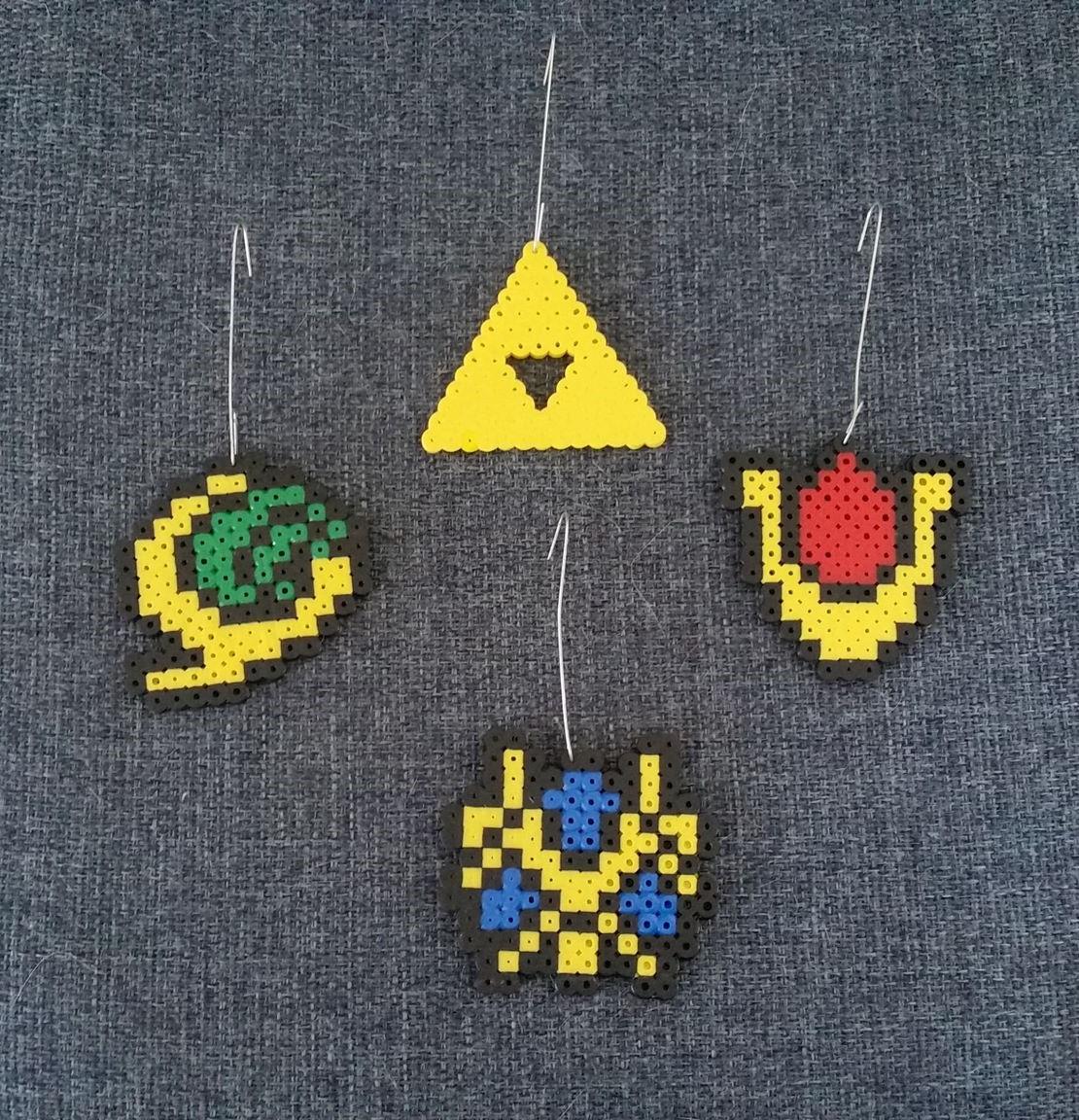 Fuse Bead Ornaments - Legend of Zelda from Talentha's Artsy Treasures