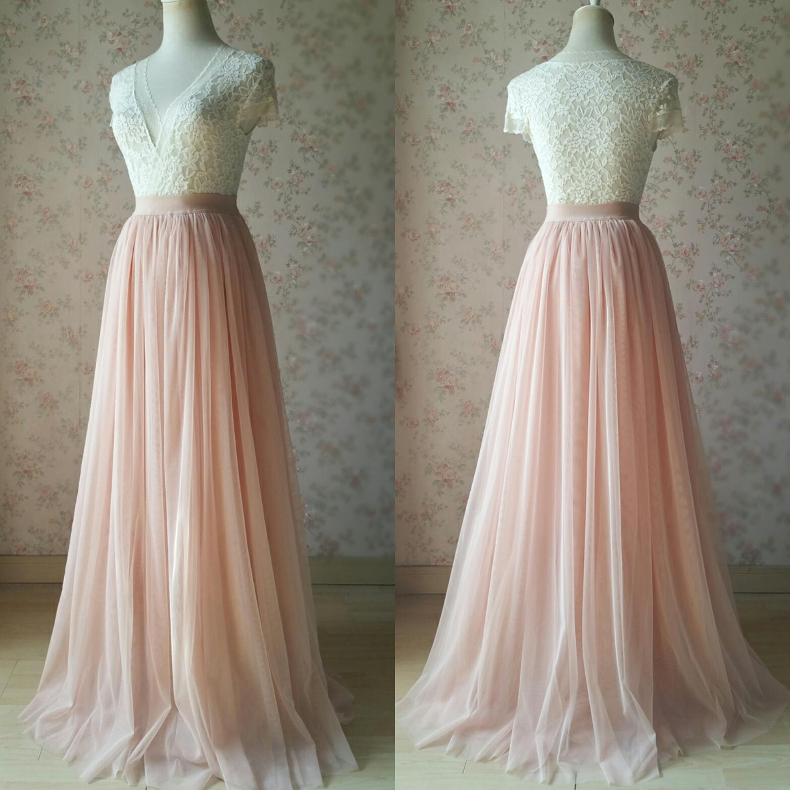 7defa707ae6e Blush Floor Length Tulle Skirt Blush Wedding Bridesmaid Tulle Skirt Photo  Shoot