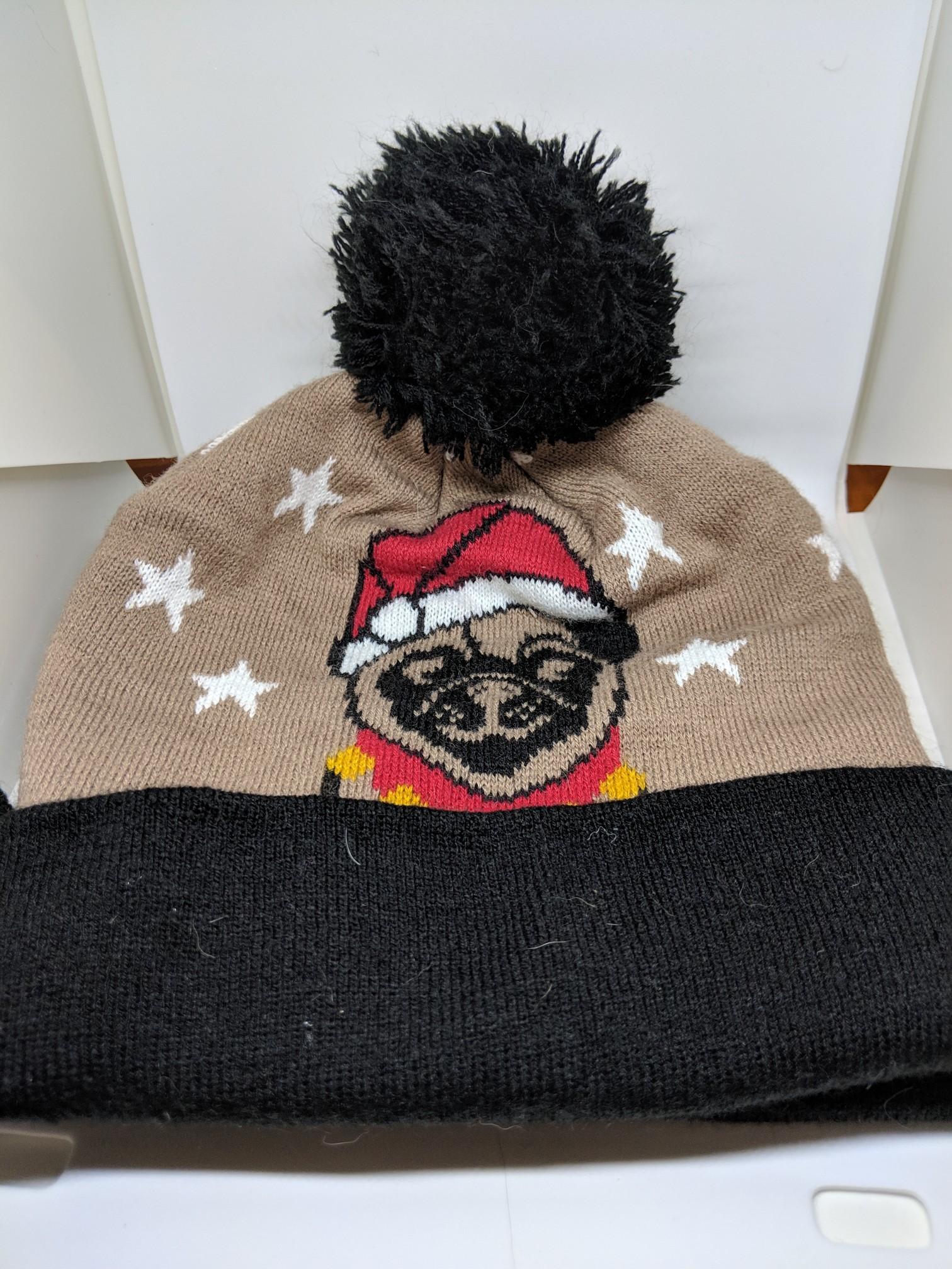 Santa Christmas Pug Beanie Toque · Pugfrey Bogart · Online Store ... 0daaecfd173