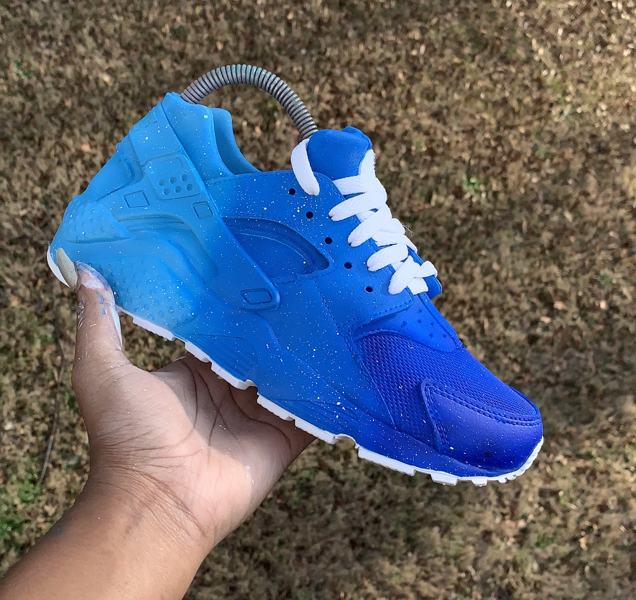 best service fb76a af1ae Blue Fade Custom Huaraches (Shoe Provided) sold by Custom Sneakks