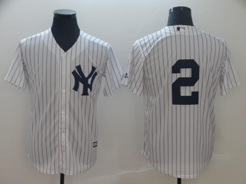 bece1941c Men s New York Yankees  2 Derek Jeter Cool Base Player Jersey ...