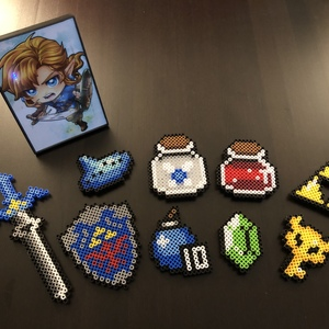 master sword shield perler beads storenvy