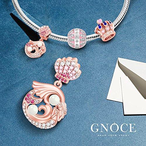dce915140f5 ... Little Mermaid Pendant 925 Sterling Silver Charm Bead Dangle for European  Bracelets Gift for her (