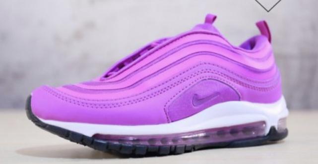 Nike Air Max 97 bright purple and white