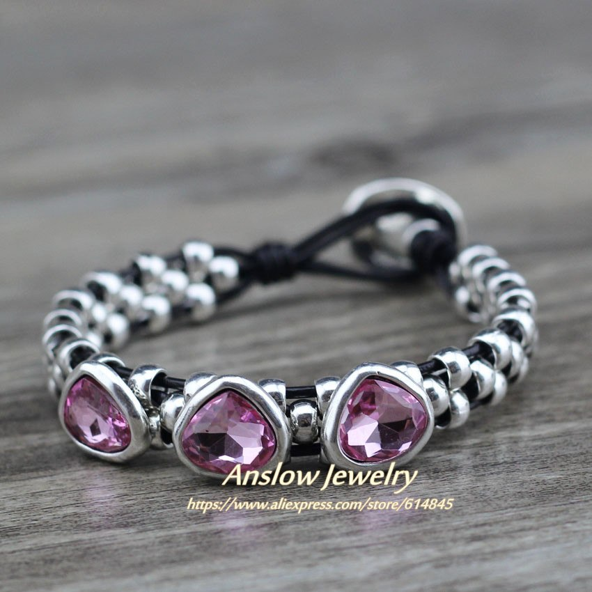 3c20d6a99a Selling For Women Heart Crystal Handmade Brand Couple Bracelets ...
