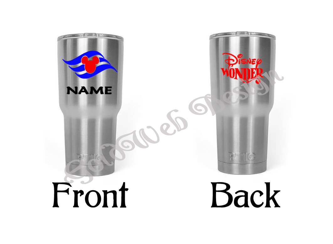 Disney Cruise Line Inspired HOGG, Yeti like Stainless Tumbler Cup 30 oz and  20 oz , Fish Extender Gift from Goldweb Design