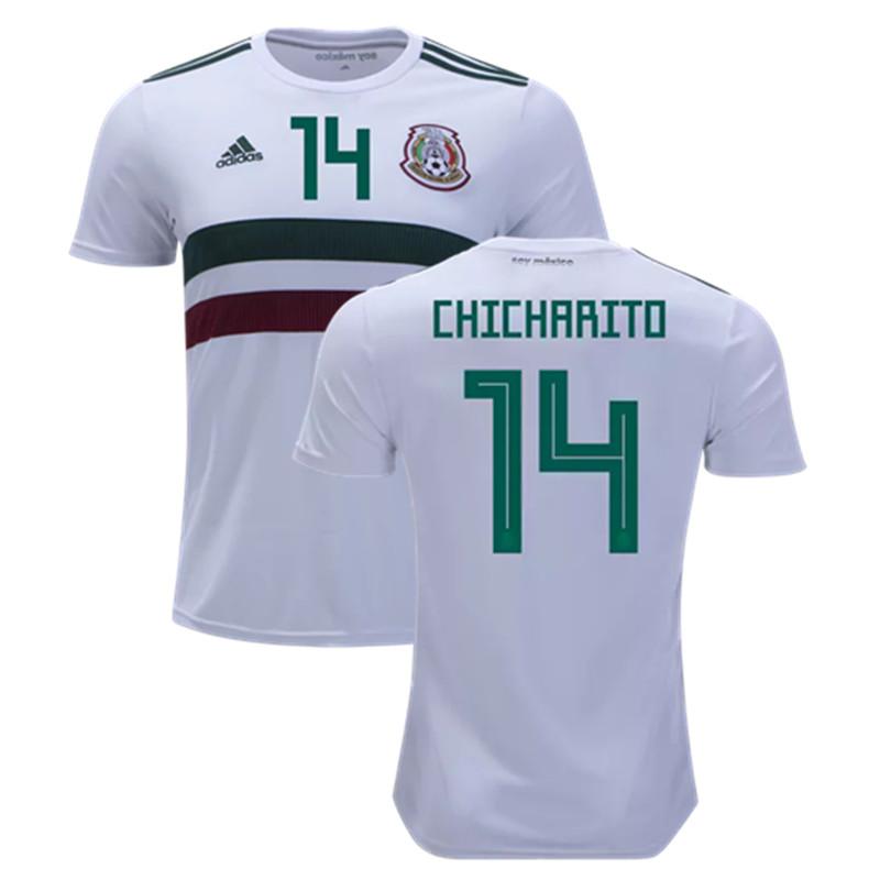 1bd661de1bc Chicharito  14 Mexico National Team Away Soccer Jersey 2018 Stadium ...