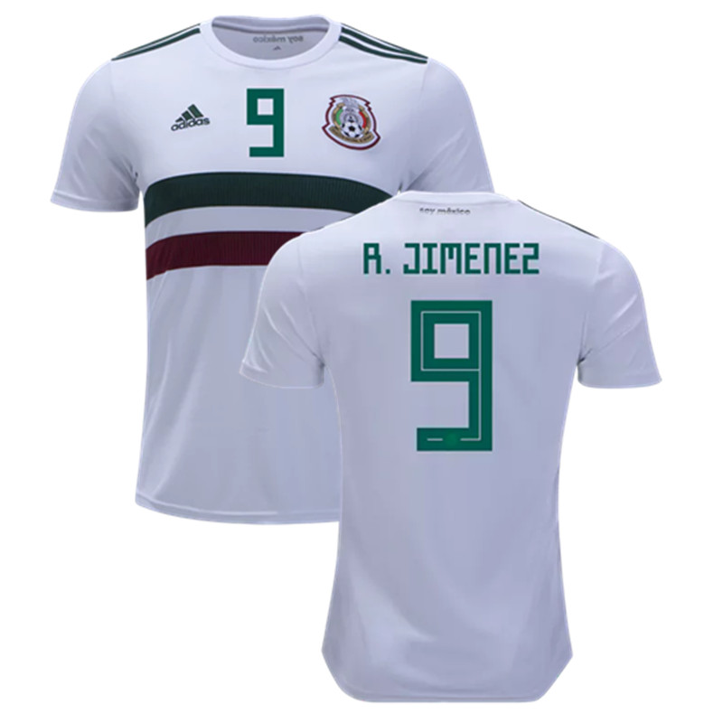 9140ddf0b63 Raul Jimenez #9 Mexico National Team Away Soccer Jersey 2018 Stadium ...